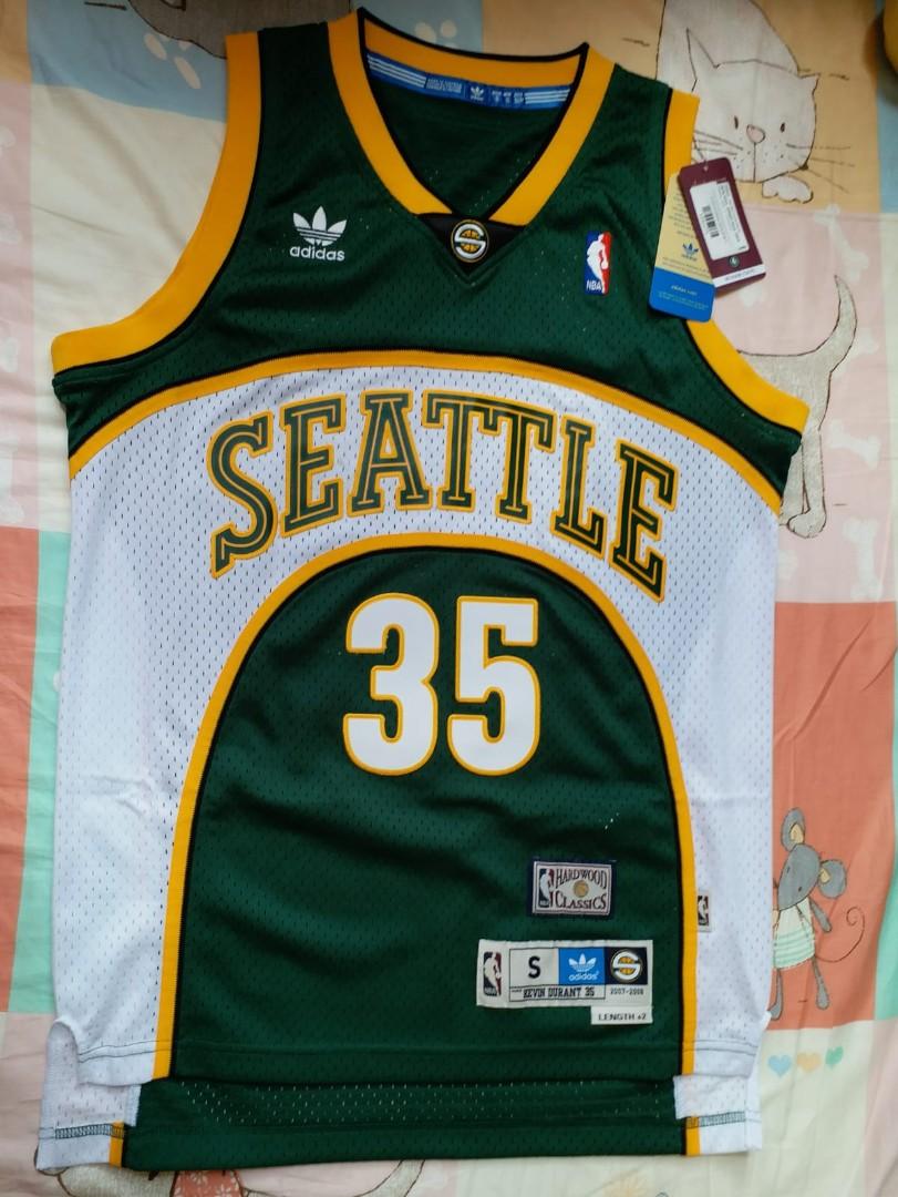 ebbdd5ce9 NWT Kevin Durant Seattle SuperSonics Retro Hardwood Classics Adidas Men  Swingman Jersey 球衣波衫