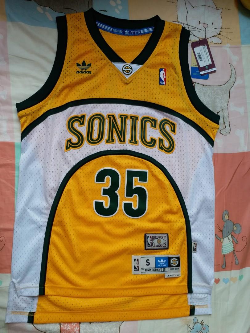d08e45951 NWT Kevin Durant Seattle SuperSonics Retro Hardwood Classics Adidas ...