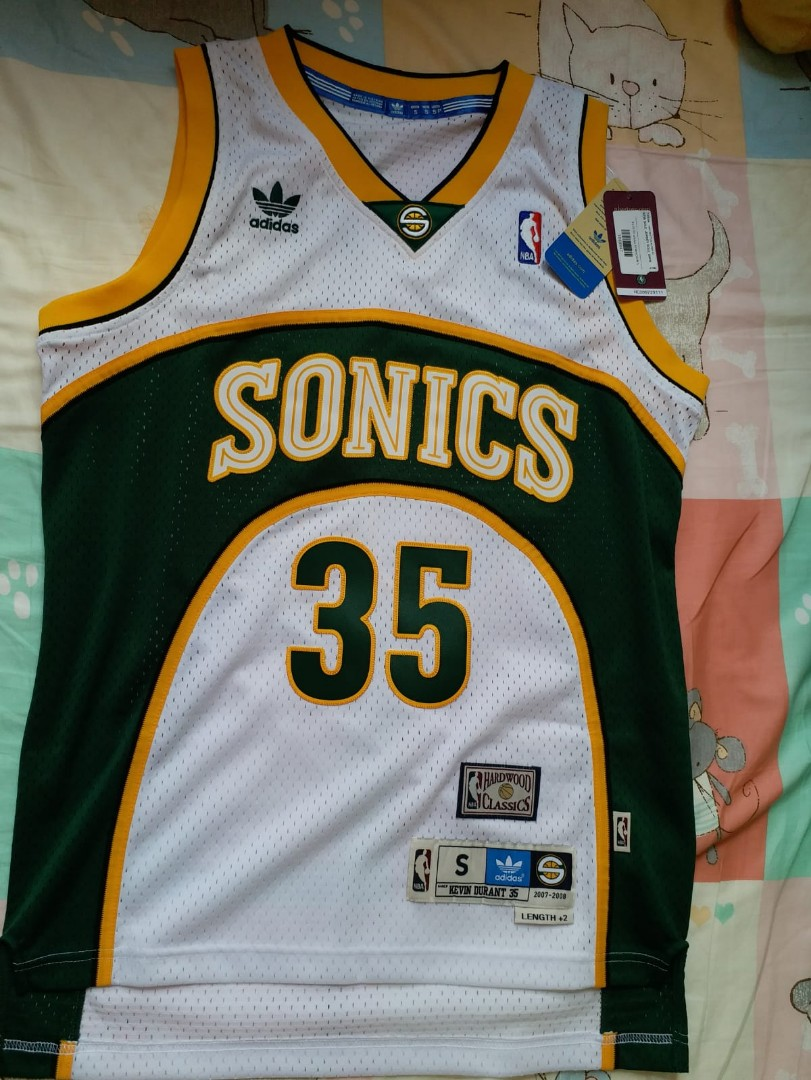 74d3273b3bf ... retro sonics jersey NWT Kevin Durant Seattle SuperSonics Retro Hardwood  Classics Adidas .