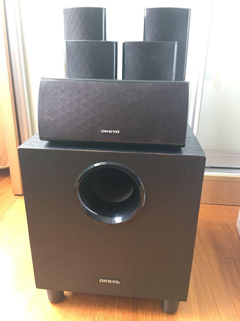 Onkyo SKS 390 speakers and woofer 5 1, Electronics, Audio on
