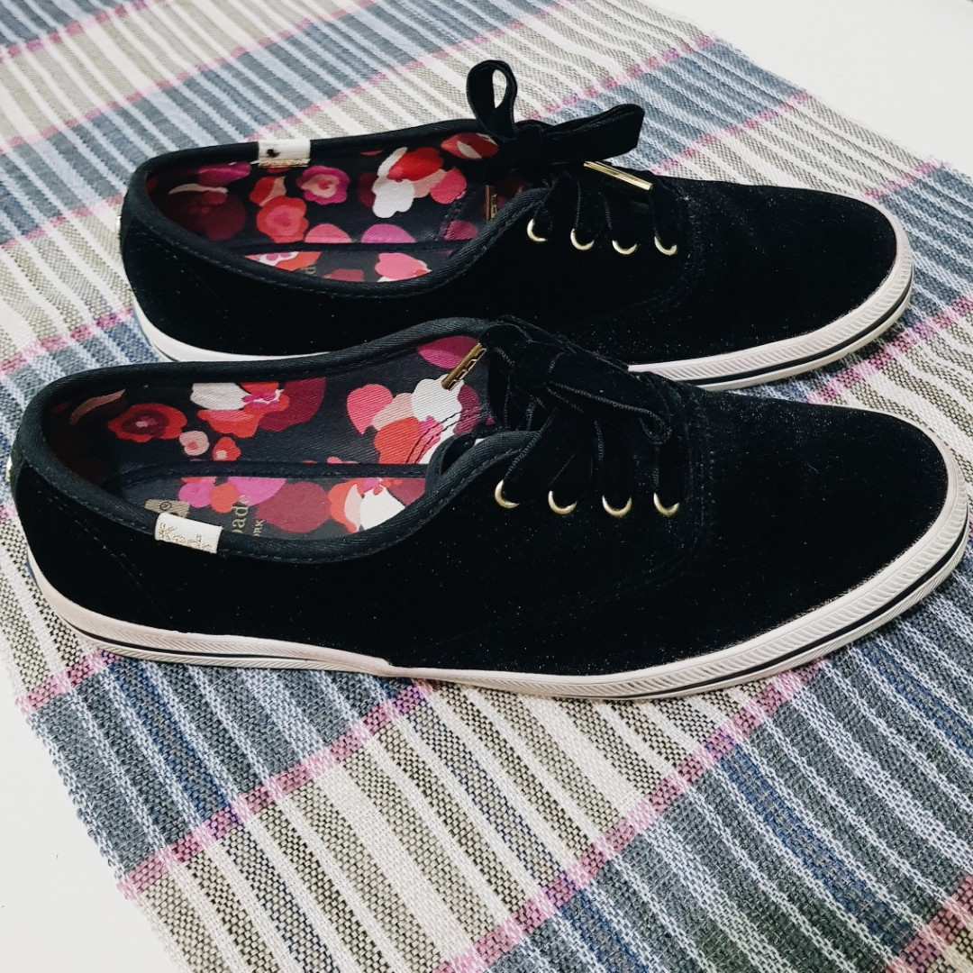 c7a24b66a380 Original Keds x Kate Spade NY Collection Black Velvet Sneakers ...