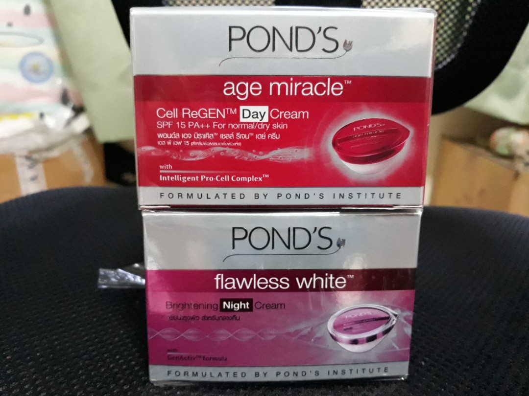 Ponds Age Miracle Day Cream Flawless White Night Health Daily Moist 50g Beauty Face Skin Care On Carousell