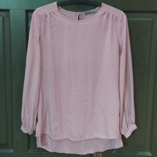 77c4b57e1c7a5 Poplook Bellona Blouse Dusty Pink