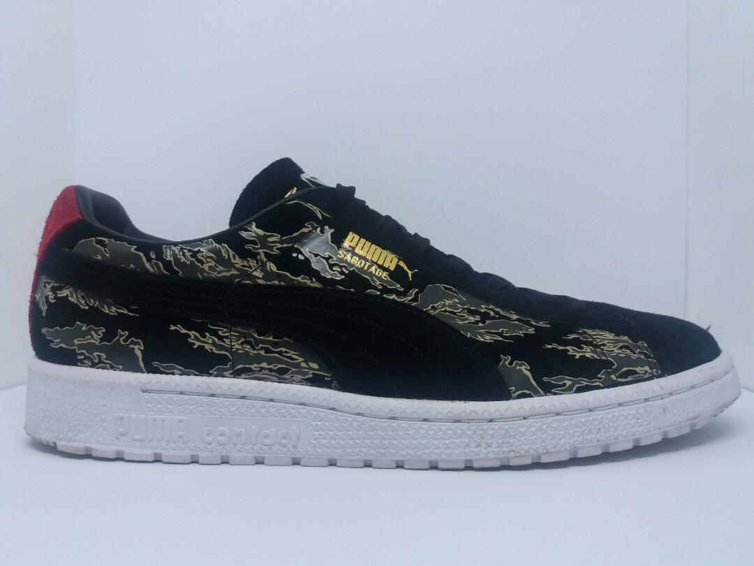 new product ec2f4 b1691 Puma Clyde First Contact x SBTG x mita, Fesyen Lelaki, Kasut Lelaki,  Sneakers di Carousell