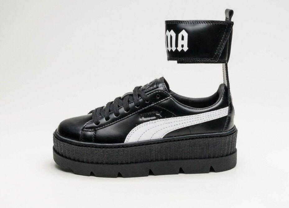 huge selection of 4ae74 5bf81 puma x fenty black ankle strap creepers, Women's Fashion ...