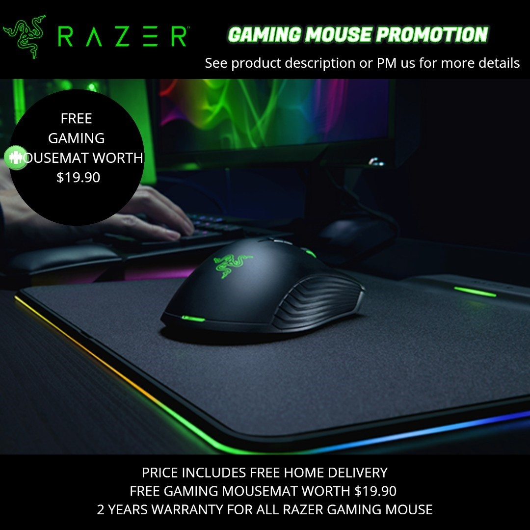 Razer Gaming Mouse Promotion, Electronics, Computer Parts