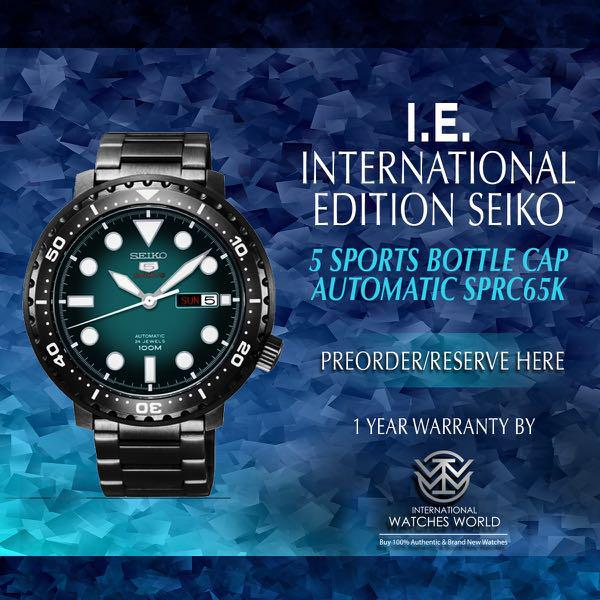 best service 02236 38584 SEIKO INTERNATIONAL EDITION 5 SPORTS AUTOMATIC BOTTLE CAP ...
