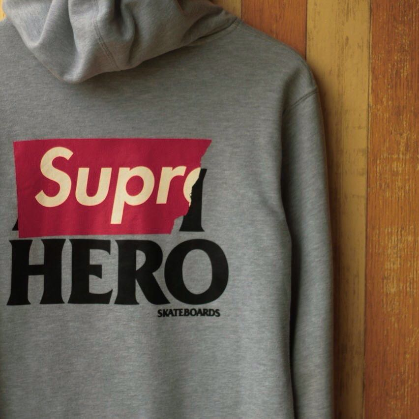 45613b8bb5a0 Supreme x Anti Hero Zip Hoodie