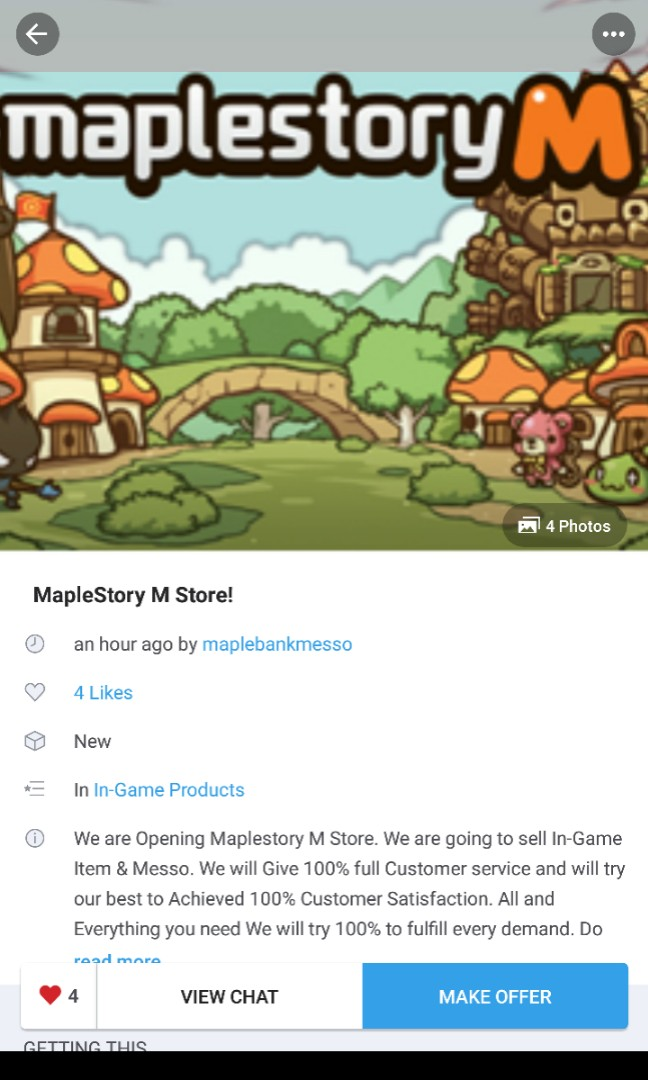Username: Maplebankmesso, Toys & Games, Video Gaming, In-Game