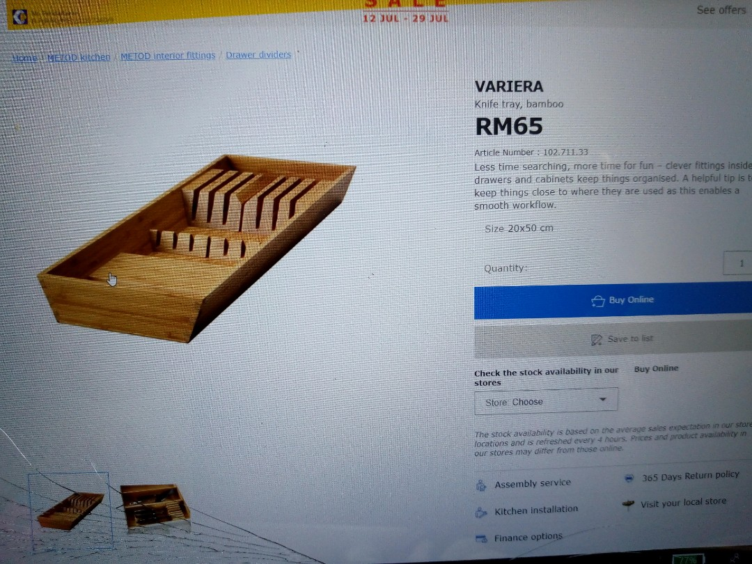 Variera Ikea, Home & Furniture, Others on Carousell