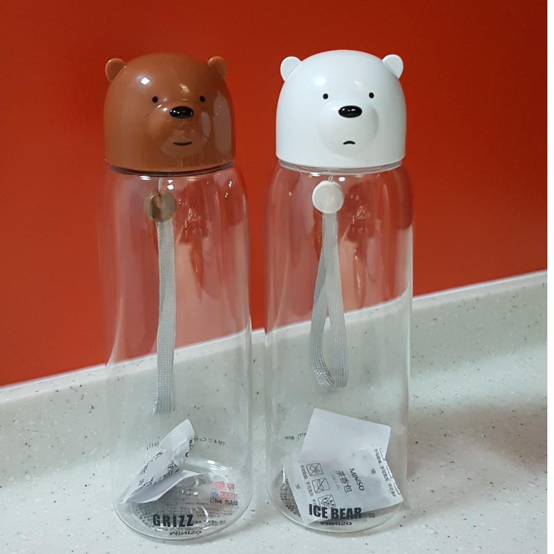 e6107fd73b We Bare Bears Plastic Water Bottle 540ml Miniso, Home Appliances,  Kitchenware on Carousell