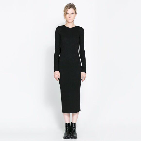 Midi bodycon dress zara