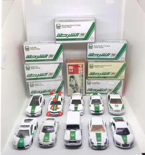 Tomica, Hotwheels, Welly's Dubai Police Squad.