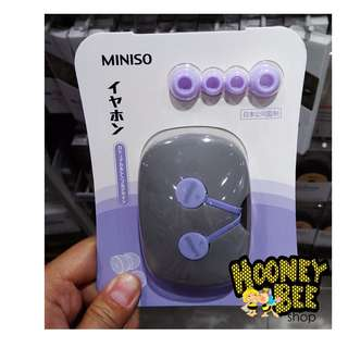 Japan Quality Miniso - Earphone Headphone Color Pastel Headset Import