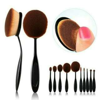 Oval Brush Set 10pcs Black