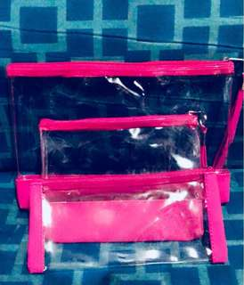3pcs. Clear Cases/Organizers