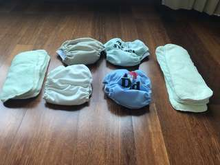 Baby Cotton Diapers (4 sets)