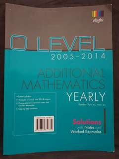 (3 for $5) O Level Additional Maths