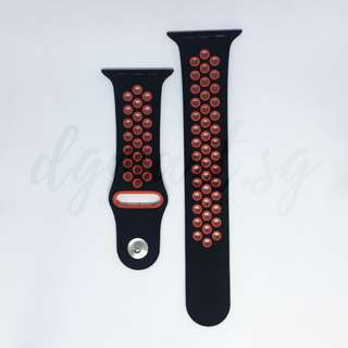 Free Mailing! Apple Watch Sport Strap 42mm -Black & Red