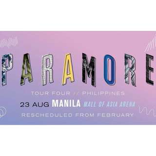TWO Gen. Ad tickets of Paramore Tour Four Manila - Aug 23, 2018