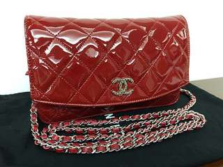 Chanel Classic WOC Red Patent leather