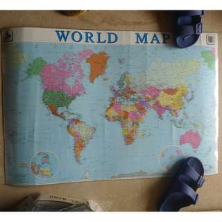 Mighty Minds Laminated World Map