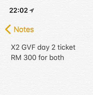 Goodvibes Day 2 ticket