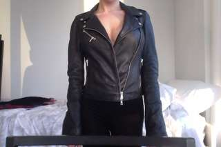 Authentic leather Zara jacket