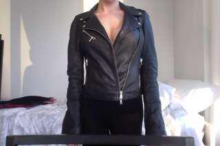Authentic leather Zara jacket