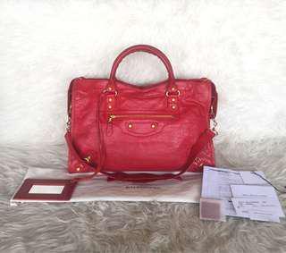 Balenciaga City Red Coquelicot GHW 2013