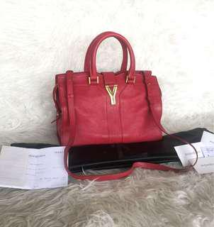 YSL Small Cabas Red GHW 2013