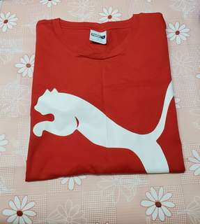 (Size:XL)正版Puma紅色男裝T-Shirt(專門店購買/買完洗乾淨未穿過)~5