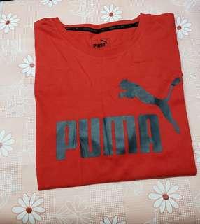 (Size:XL)正版Puma紅色男裝T-Shirt(專門店購買/買完洗乾淨未穿過)