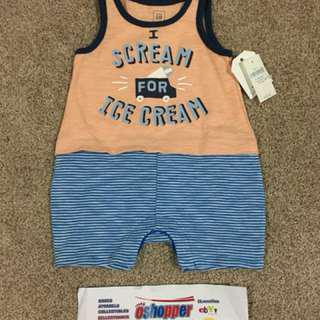 BABY GAP  2 in 1 TANK TOP shorts  0-3 months BNWT srp $20