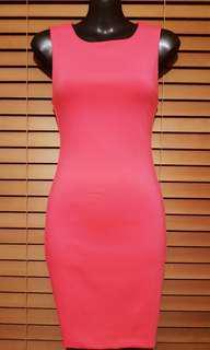 Kookai hot pink body-con
