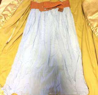 🚚 水藍色長裙