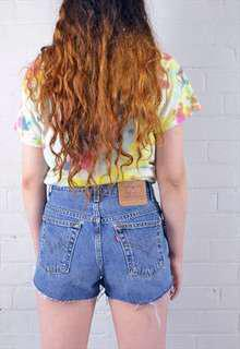 Vintage Levi's Mid Blue High Waisted Denim Shorts