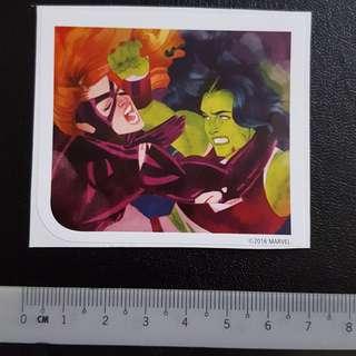 C5 Marvel She-Hulk VS Titania Sticker Stickers