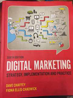 Sixth edition digital marketing book by dave chaffey