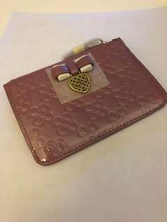 全新patent Coach zip wallet