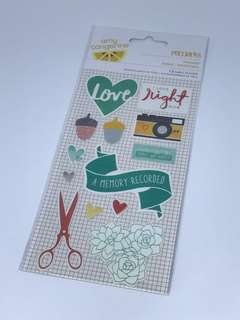 🚚 Fabric stickers for scrapbooking