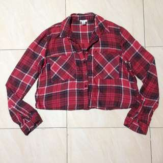 BP PLAID TOP