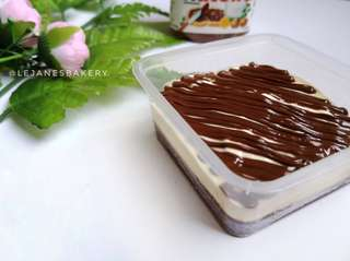 Layered Chocolate Melted Cheese with Nutella