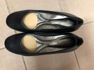 Amelia 黑色皮鞋38碼(No.245)