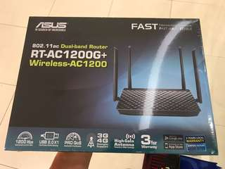Brand New In Box Asus Dual Band AC Router RT-AC1200G+