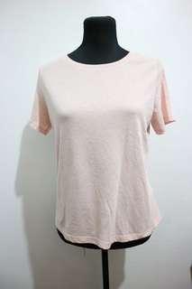 H&M semi croptop light pink