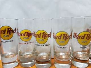 Hard Rock Cafe Shot Glasses , Planet Hollywood