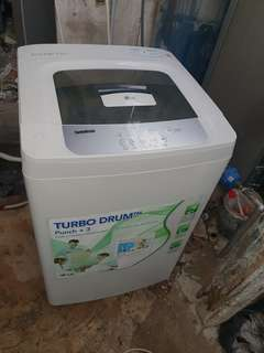 Used LG washer 7.0kg washing machine mesin basuh fully automatic stainless steel drum in good condition