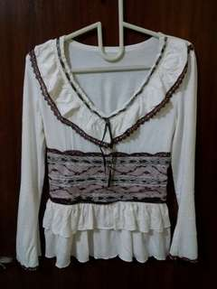 Victorian Style Top Blouse