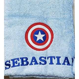 🚚 Personalised Captain America Shield Towel